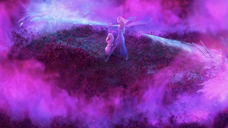 Эльза спасает Олафа